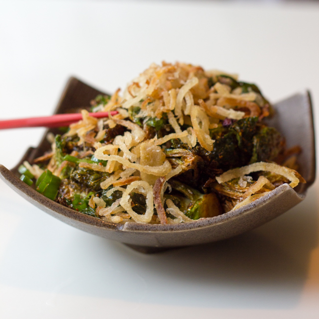 Fried Brussels Sprouts at Slurping Turtle in Chicago