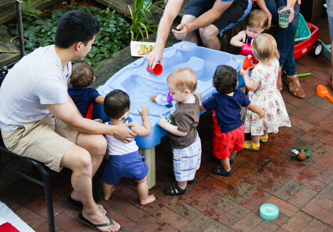Tip: Have a water table at a toddler party