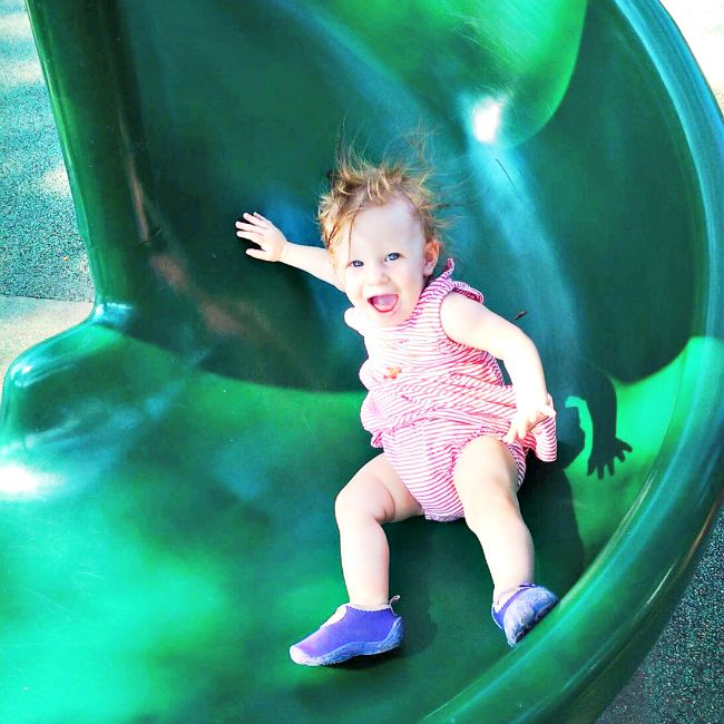 Why I allow my child to climb up slides