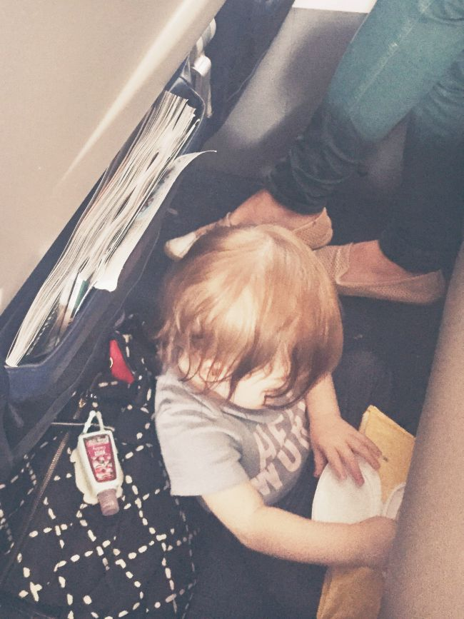Bringing a toddler on an airplane is tough!