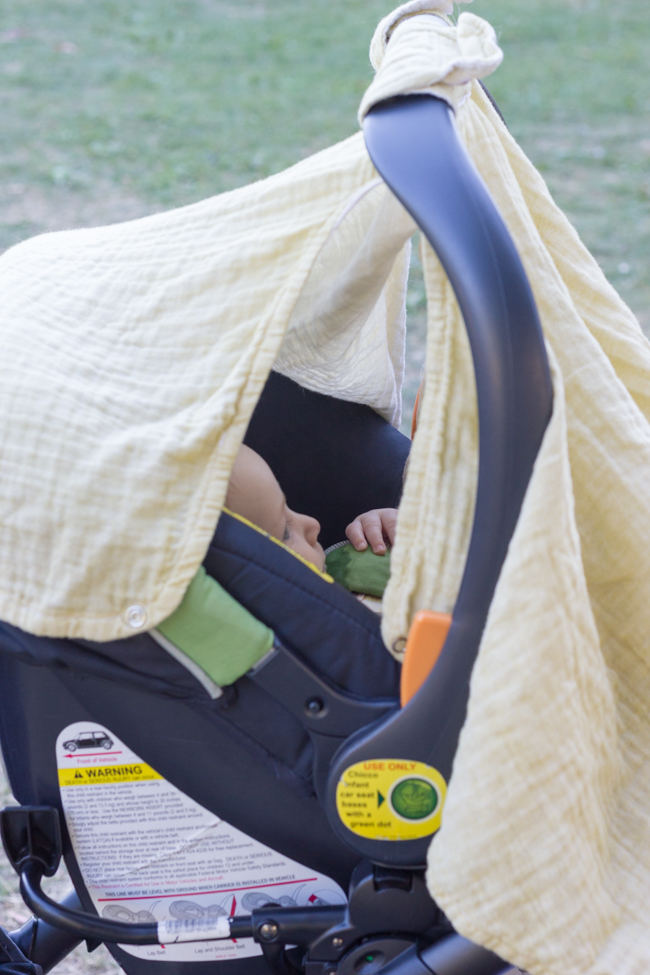 Hemmed In Carseat Canopy