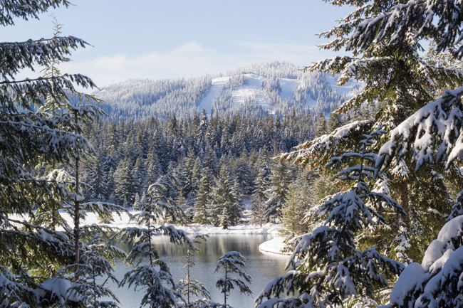 Snowshoeing at Gold Creek Pond