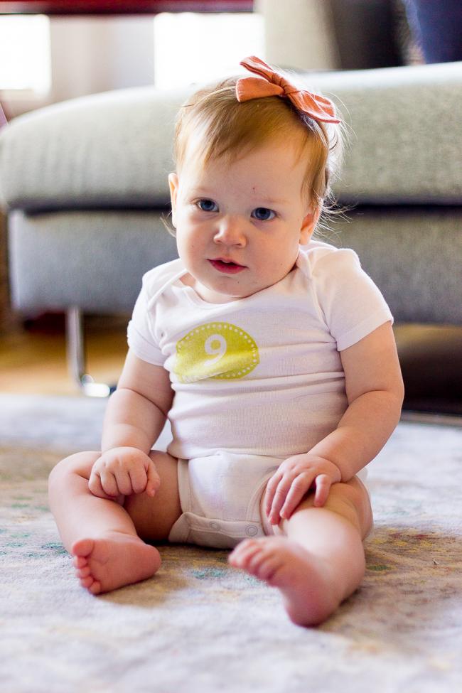 Isabelle at nine months old