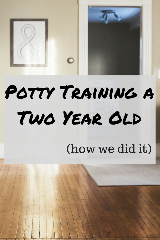 Potty Training a 2 Year Old - How we did it!