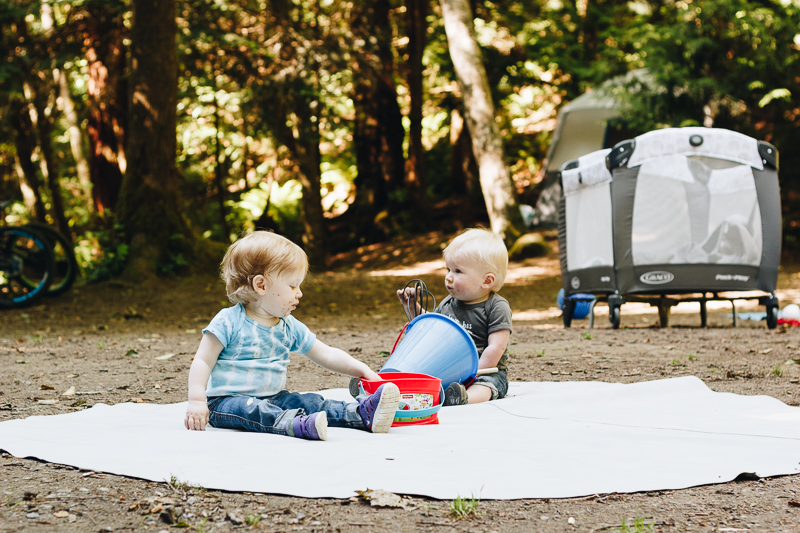 Our first experience camping with our toddler & baby was a success!