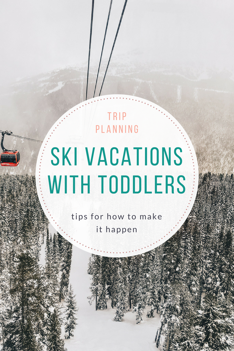 Tips on how to plan/take a ski trip with young children