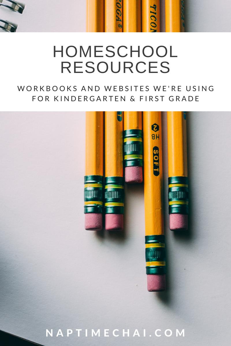 Homeschool resources for kindergarten and first grade